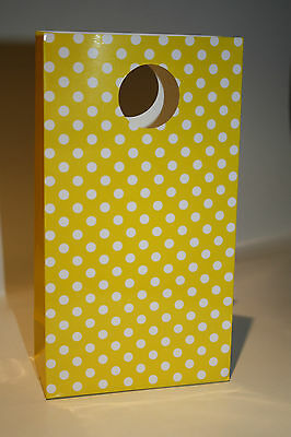 Polka Dot Candy / Party Bags - Yellow 5Pk * Fast & Free Postage *