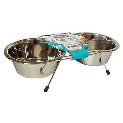 New Stainless Steel Non Slip DOG/CAT Feeding Bowls Stand Dishwasher Safe New
