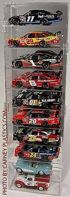 NASCAR 1:24 Diecast Display Case 10 Car Vertical fits RCCA