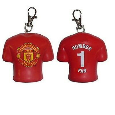 MANCHESTER UNITED F. C. 'NUMBER 1 FAN' Stress Relief  Key Ring Kit Bag Tag