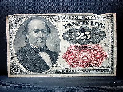 25C Fractional Currency ✪ 5Th Issue ✪ Vf Very Fine L@@k Now Cents ◢Trusted◣