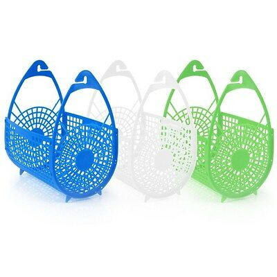 Plastic Pegs Hanging Basket Bags Holder Storage Laundry Clothes Washing