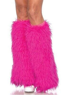 Furry Leg Warmers RAVEWEAR Fluffy Club Wear Neon Dance Go Go