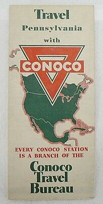 Conoco Oil Co.1930 Pennsylvania Road Map