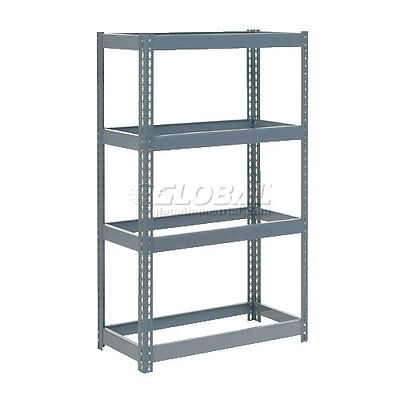"Extra Heavy Duty Shelving 36""W x 24""D x 72""H With 4 Shelves, No Deck"