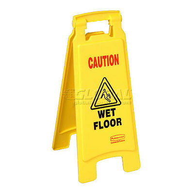 Rubbermaid 6112-77 Floor Sign 2 Sided - Caution Wet Floor