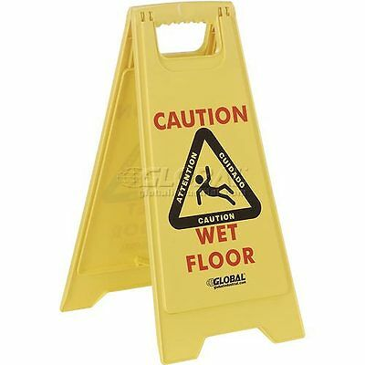 Global Industrial Floor Sign 2 Sided Multi-Lingual - Caution