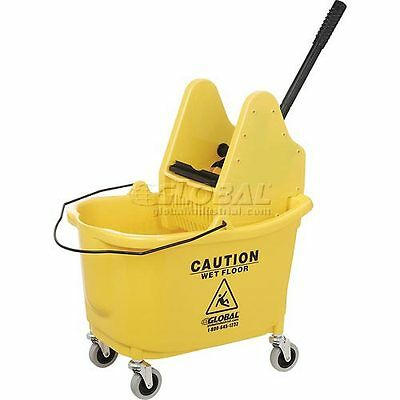 Global Industrial Mop Bucket And Wringer Combo - Down Press