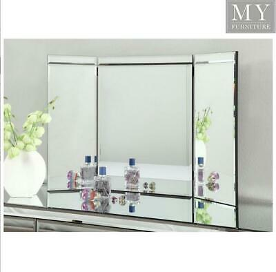 RIO Vanity Tri Fold Mirror for Dressing Table or Console