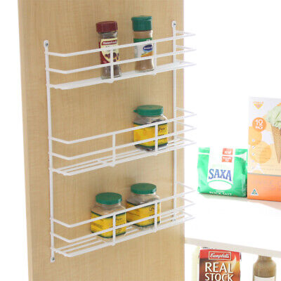 NEW Spice Rack 3 Tier White for Kitchen Cupboard Pantry Door Storage