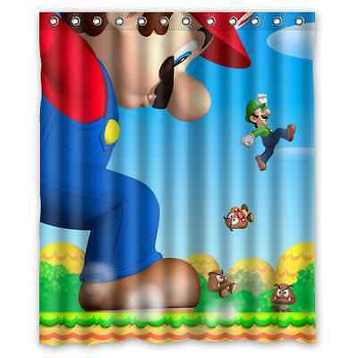 High Quality Bathroom Super Mario Brothers Shower Curtain 60 X 72 Inch