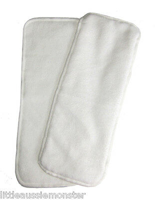 10 x Microfibre inserts to suit Modern Cloth Nappies (MCN)