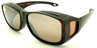 OTG Over-The-Glasses L Polarized  brown lens vented demi frame sideview -NEW