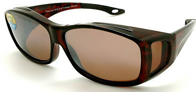OTG Over-The-Glasses M Polarized  brown lens vented demi frame sideview -NEW