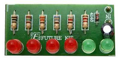 Audio VU meter 6 LED no need power supply [ Unassembled kit ]