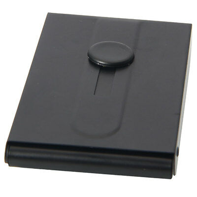 Automatic Slide Out Pocket Business Name Card Case Holder Box Stainless Steel
