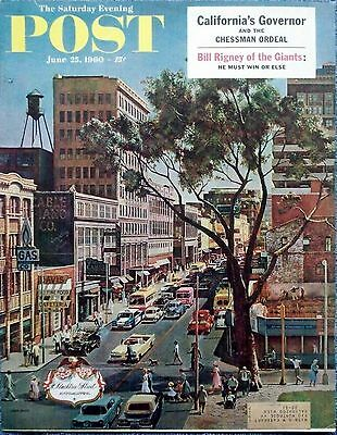 1960 Saturday Evening Post Peachtree Street Atlanta Georgia John Falter cover