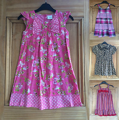 Next Girls Summer Dresses Pink White Black Stripe Floral Checked 2-8 Years Bnwot