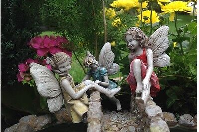 "2"" to 3.5"" My Fairy Gardens Mini Figures - Climbing Fairies - Single or Set of 3"