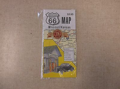 MISSOURI/KS. Rt 66 ROAD MAP 75TH ANNIVERSARY EDITION GREAT COLLECTIBLE PICTURES