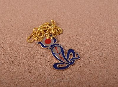 Egyptian Hand Made Solid Brass Cobra Wadjet Enameled Necklace