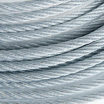 """3/8"""" 7x19 Galvanized Aircraft Steel Cable Wire Rope (250 feet)"""