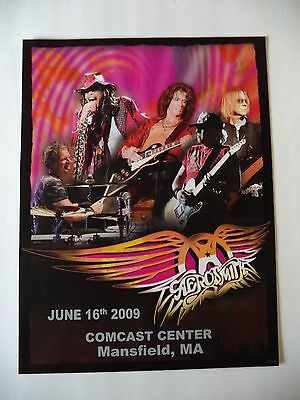 AEROSMITH MANSFIELD MA COMCAST CENTER CONCERT POSTER 2009 ONLY 105 MADE!!!
