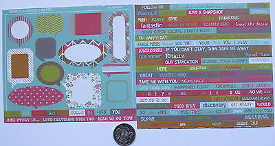Scrapbooking No 071 - 60+ Small Sayings & Frames Stickers -  Sale To Clear
