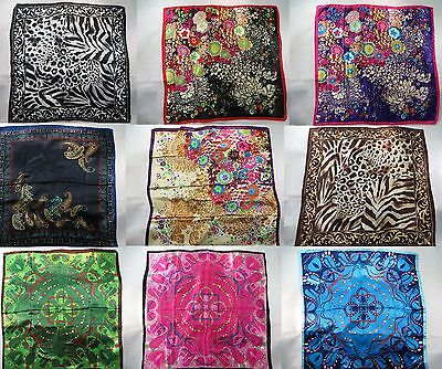 *US SELLER*lot of 10 wholesale  animal print retro boho satin large square scarf