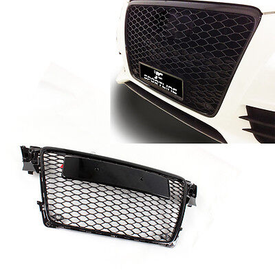 Front Mesh Sport Honeycomb Grille Grill Fit for Audi A4 B8 RS4 S4 09-12