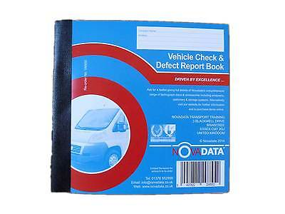 Novadata Van Check & Daily Defect Report Pad 50 duplicate numbered pages