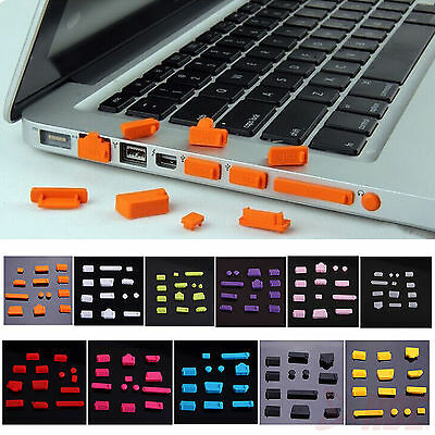 13pcs Protective Ports Cover Silicone Anti-Dust Plug Stopper for Laptop Notebook