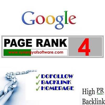 1 x PR4 Permanent Do Follow backlinks Page Rank 4 Google SEO manual submission