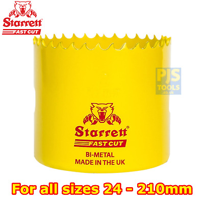Starrett fast cut bi-metal holesaw 24mm-210mm hole saw or arbors or pilot drills