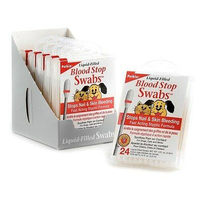 Petkin Liquid-Filled Blood Stop Swabs Fast Acting Styptic Nails & Skin Dog Cat