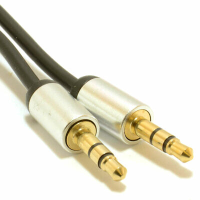 0.5m Aluminium PRO 3.5mm Jack to Jack Stereo Audio Cable Lead GOLD [007511]