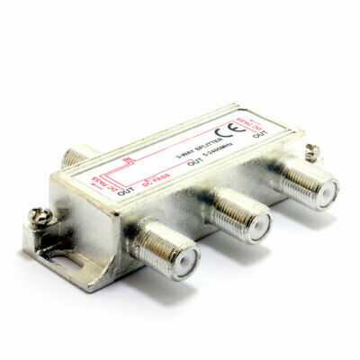 F-Type Screw Connector Splitter For Virgin Cable 5-2450 MHz 3 way [007662]