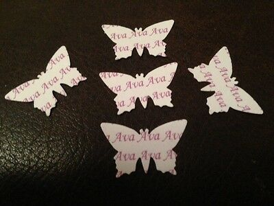 BUTTERFLIES Personalised Christening Birthday Anniversary Confetti name age