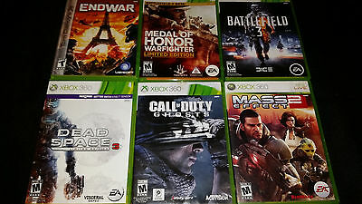 Lot of 6 Xbox 360 Games - Call of Duty Ghosts Dead Space 3 Mass Effect 2
