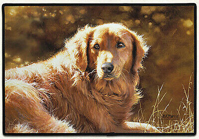 "DOOR MATS - GOLDEN RETRIEVER DOOR MAT - RUBBER BACKED DOORMAT - 27"" x 18"""