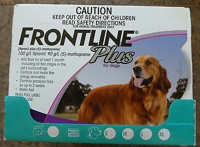 Frontline Plus for Large Dogs 45-88lbs 6 Months Supply Merial NIB