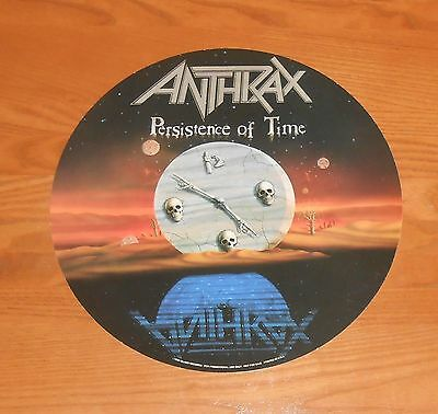 Anthrax Persistence of Time Poster 2-Sided Flat Round Promo 12x12