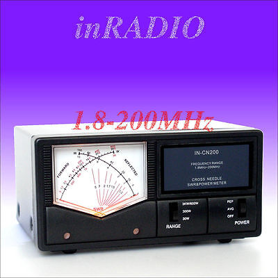 INRADIO IN-CN200 CROSS NEEDLE POWER SWR METER 1.8-200MHz FAST DELIVERY! INCN200