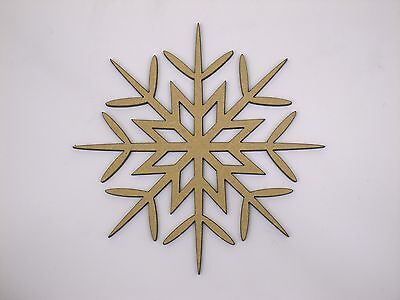 Eight 10cm Snowflake Craft Wood 3mm MDF For Your Frozen Christmas Needs sf003