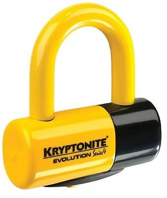 Kryptonite Mx Evolution Series 4 Motocross Dirt Bike Security Yellow Disc Lock