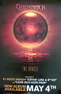 Godsmack The Oracle RARE double-sided promo poster '10