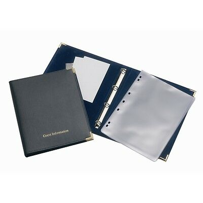 Black Guest Information Folder Guest House Hotel B&B A4 Hold Up To 20 PVC