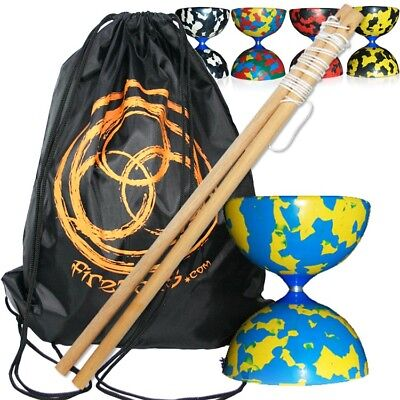 Beginner's Diablo Set - Jester Diabolo, Wooden Hand Sticks & Carry Bag