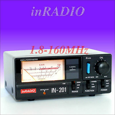 INRADIO IN-201 - SWR & POWER METER HF VHF 1.8-160 MHz + FAST DELIVERY! IN201