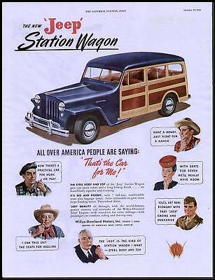 1946 Jeep Station Wagon Ad That's the Car Made For Me!